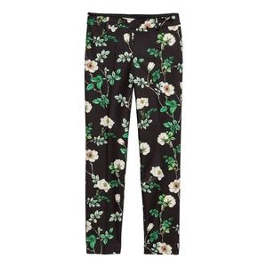 h&m floral stovepipe pants